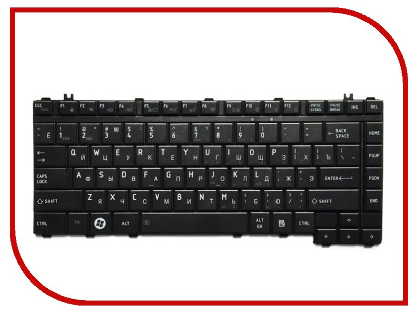 Клавиатура TopON TOP-100274 для Toshiba Satellite A200 / A205 / A210 / A215 / M200 Series Black<br>