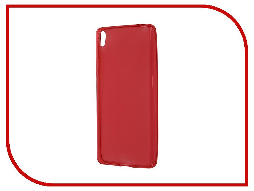 Аксессуар Чехол-накладка Sony Xperia E5 F3311 Gecko Red S-G-SONE5-RED аксессуар чехол накладка sony xperia z5 compact gecko black s g sonz5mini bl