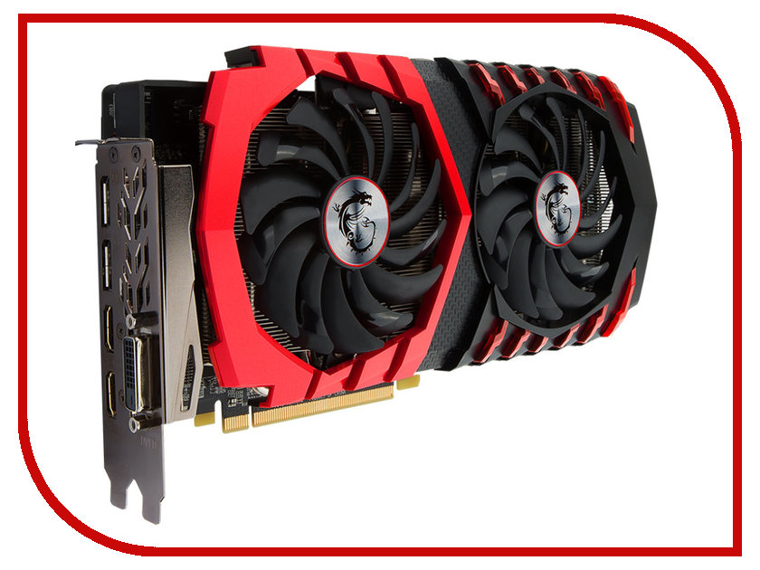 Видеокарта MSI Radeon RX 480 1266Mhz PCI-E 3.0 8192Mb 8000Mhz 256 bit DVI HDMI HDCP RX 480 GAMING X 8G<br>