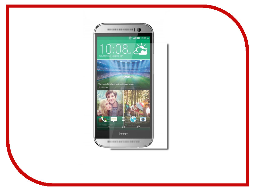 Аксессуар Защитное стекло для HTC One M8 Gecko 0.26mm ZS26-GHTCOM8 single sim black white color lcd display and touch screen digitizer assembly with frame for htc one m8 free dhl ems 10pcs lot