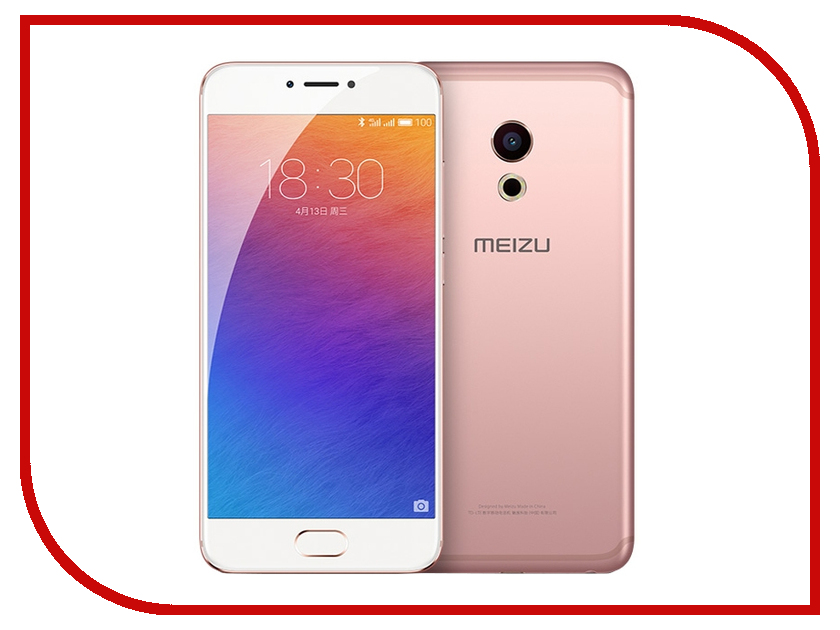 Сотовый телефон Meizu Pro 6 64Gb Rose Gold-White<br>
