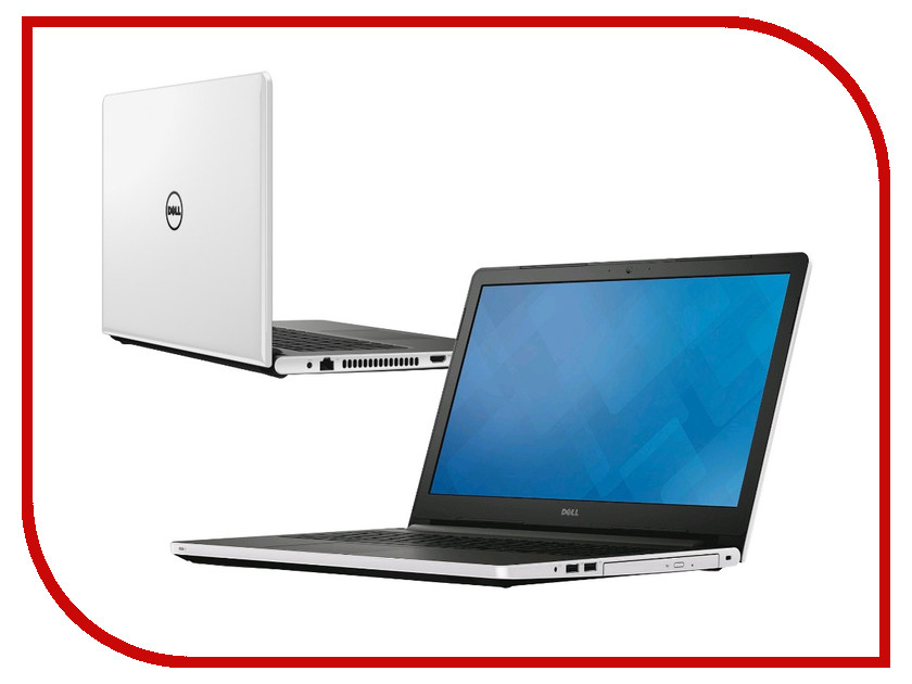 Ноутбук Dell Inspiron 5559 White 5559-5360 (Intel Core i5-6200U 2.3 GHz/8192Mb/1000Gb/DVD-RW/AMD Radeon R5 M335 2048Mb/Wi-Fi/Cam/15.6/1366x768/Windows 10 64-bit)<br>