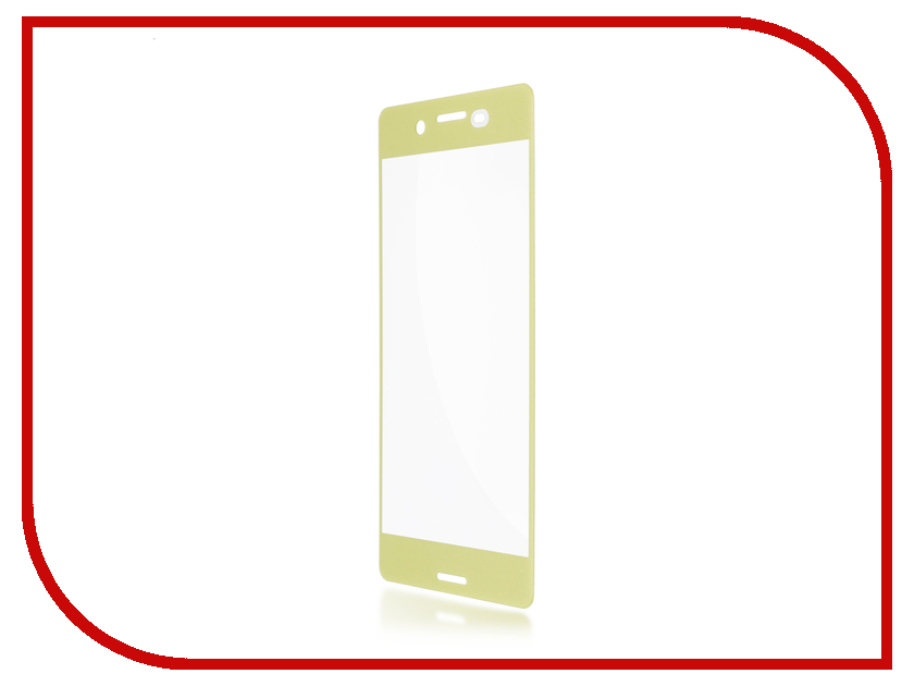 Аксессуар Защитное стекло Sony Xperia X Performance BROSCO 0.3mm Gold Lime XP-3D-GLASS-GOLDLIME чехол для iphone interstep для iphone 8 is soft t metal adv черный