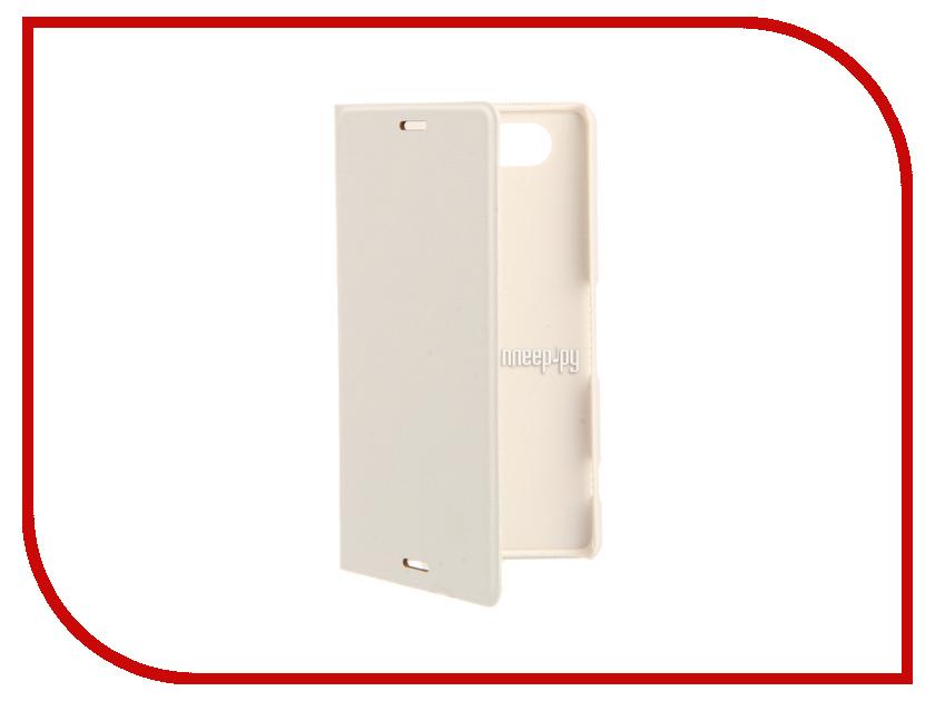 Аксессуар Чехол-книжка Sony Xperia Z3 Compact BROSCO PU White Z3C-BOOK-03-WHITE<br>
