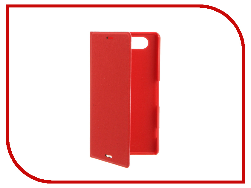 Аксессуар Чехол-книжка Sony Xperia Z3 Compact BROSCO PU Red Z3C-BOOK-03-RED