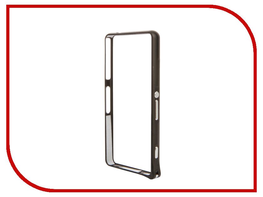 Аксессуар Чехол-бампер Sony Xperia Z3 Compact BROSCO Black Z3C-BUMPER-01-BLACK