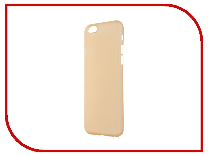 Аксессуар Чехол-накладка BROSCO Superslim для iPhone 6 / 6S Gold IP6-PP-SUPERSLIM-GOLD<br>