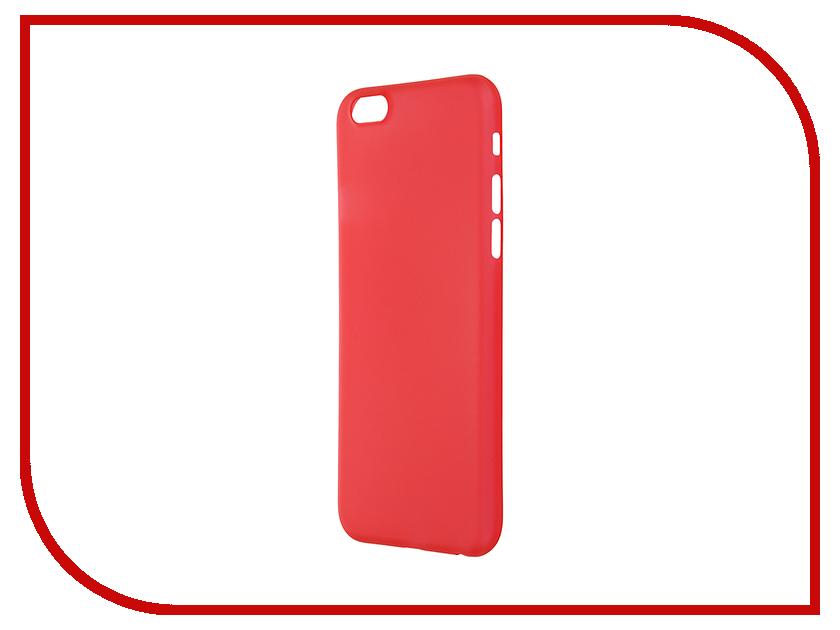 Аксессуар Чехол-накладка BROSCO Superslim для iPhone 6 / 6S Red IP6-PP-SUPERSLIM-RED<br>