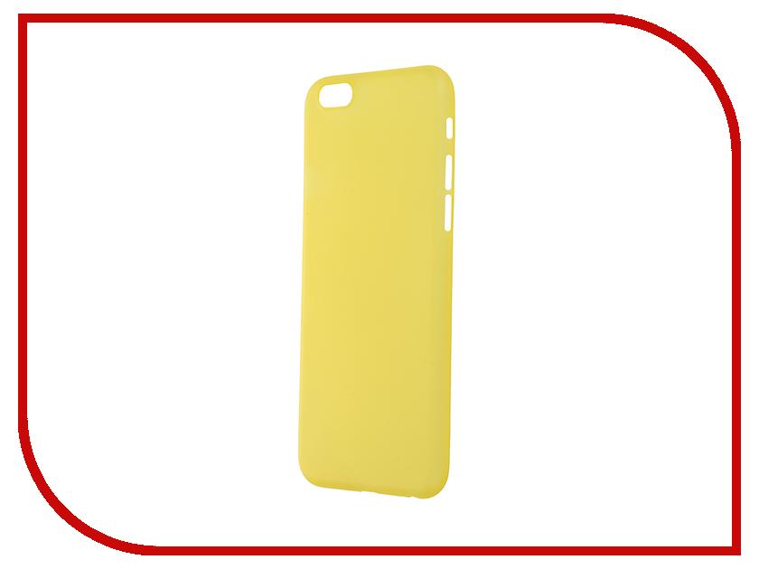 Аксессуар Чехол-накладка BROSCO Superslim для iPhone 6 / 6S Yellow IP6-PP-SUPERSLIM-YELLOW