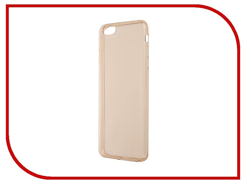 Аксессуар Чехол-накладка BROSCO для iPhone 6 / 6S Plus Gold IP6P-TPU-GOLD<br>