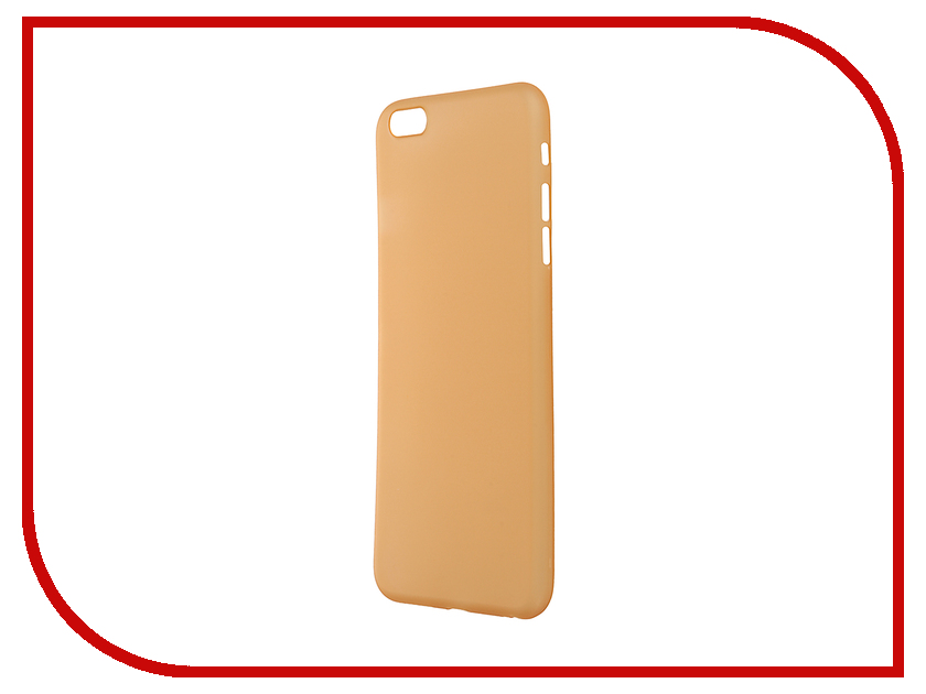 Аксессуар Чехол-накладка BROSCO Superslim для iPhone 6 Plus Gold IP6P-PP-SUPERSLIM-GOLD<br>