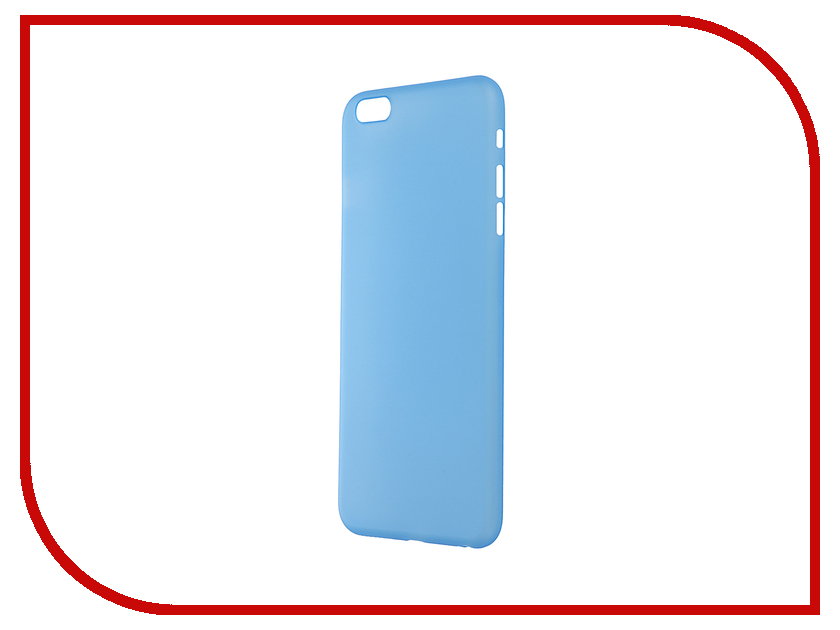 Аксессуар Чехол-накладка BROSCO Superslim для iPhone 6 Plus Blue IP6P-PP-SUPERSLIM-BLUE аксессуар чехол elari для elari cardphone и iphone 6 plus blue
