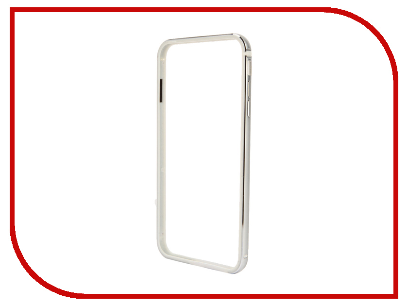 Аксессуар Чехол-бампер BROSCO для iPhone 6 / 6S Plus Silver IP6P-BUMPER-SILVER<br>
