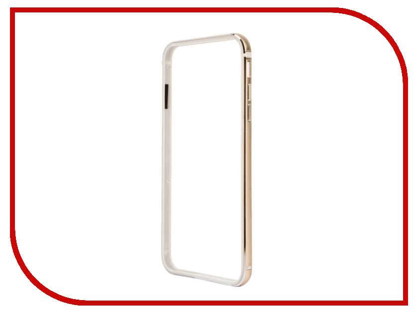 Аксессуар Чехол-бампер BROSCO для iPhone 6 / 6S Plus Gold IP6P-BUMPER-GOLD<br>