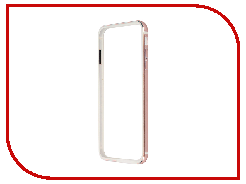 Аксессуар Чехол-бампер BROSCO для iPhone 6 / 6S Plus Rose Gold IP6P-BUMPER-ROSEGOLD<br>