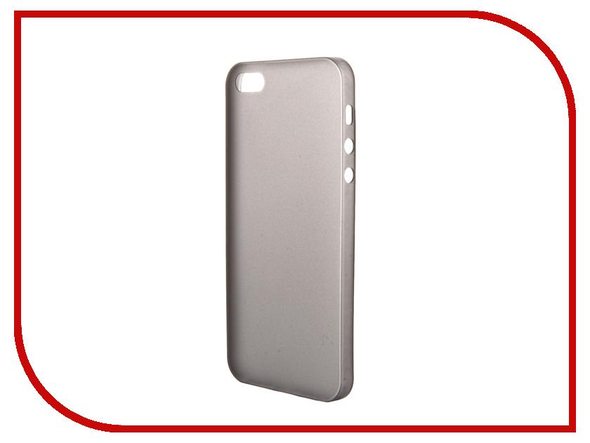 Аксессуар Чехол-накладка BROSCO Superslim для iPhone 5 / 5S Black IP5-PP-SUPERSLIM-BLACK<br>