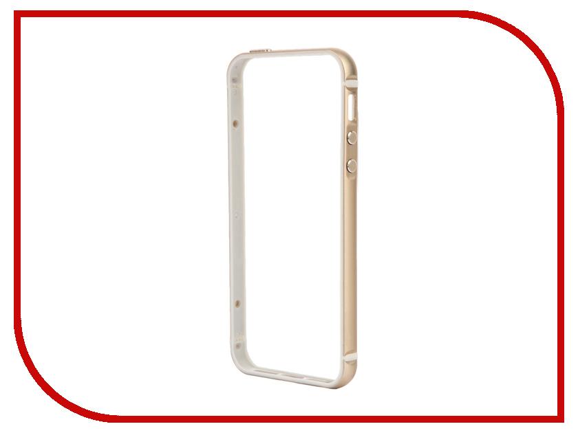 Аксессуар Чехол-бампер BROSCO для iPhone 5 / 5S Gold IP5-BUMPER-GOLD<br>