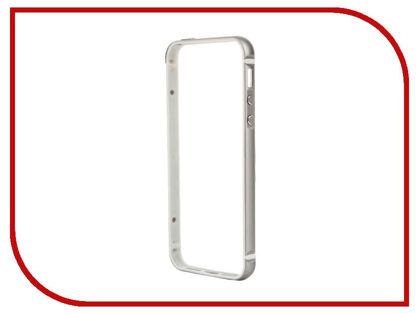 Аксессуар Чехол-бампер BROSCO для iPhone 5 / 5S Grey IP5-BUMPER-SPACEGREY<br>
