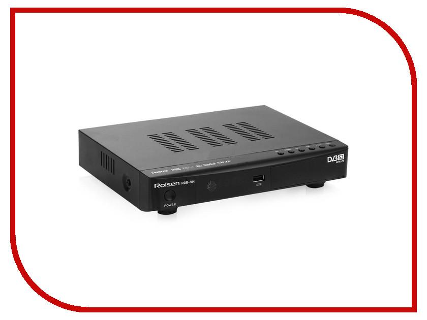Rolsen RDB-704 тюнер цифровой dvb t2 rolsen rdb 515 черный