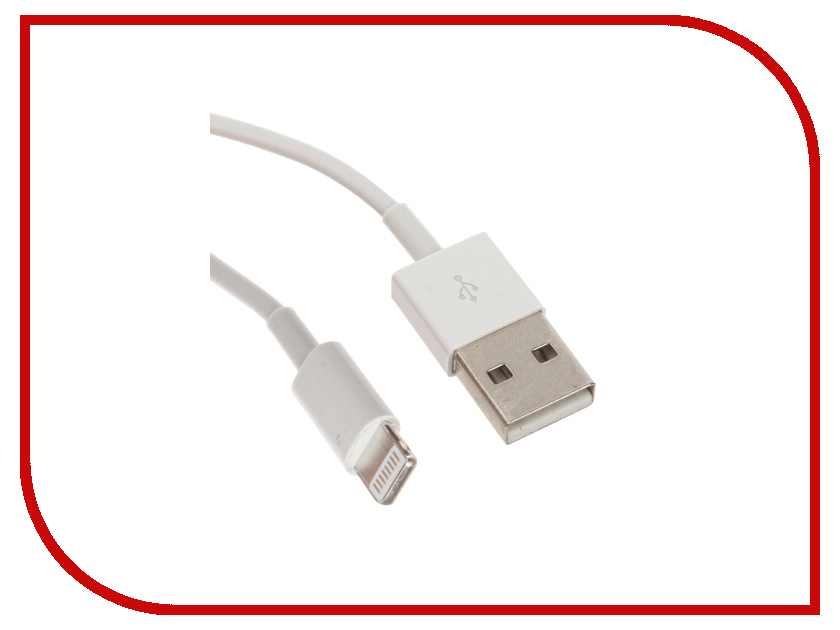 Аксессуар OLMIO USB - Lightning 1m White ПР033939<br>