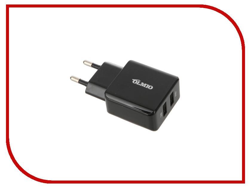 Зарядное устройство OLMIO 2xUSB 2.1A White ПР033925