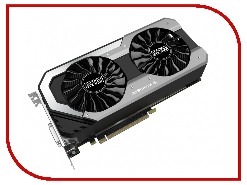 Видеокарта Palit GeForce GTX 1060 1506Mhz PCI-E 3.0 6144Mb 8008Mhz 192 bit DVI HDMI HDCP JetStream NE51060015J9-1060J