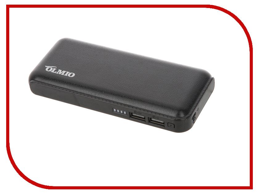 Аккумулятор OLMIO Power Bank 10000mAh 2xUSB 2.1A ПР033945 аккумулятор rock odin power bank 10000mah rmp0362 gold