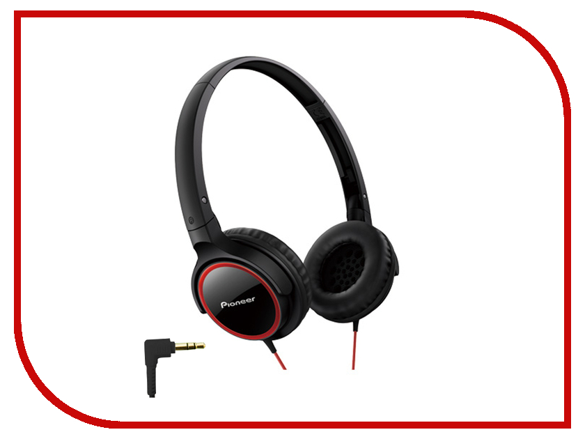 Наушники Pioneer SE-MJ512 Black-Red<br>