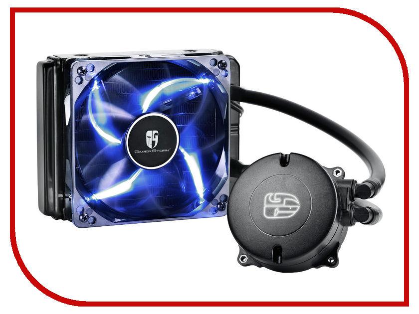 Водяное охлаждение DeepCool Maelstrom 120T Blue (Intel LGA1150/1151/1155/1156/LGA1356/1366/LGA2011/2011-3/AMD AM2/AM2+/AM3/AM3+/FM1/FM2/FM2+) asm 120t