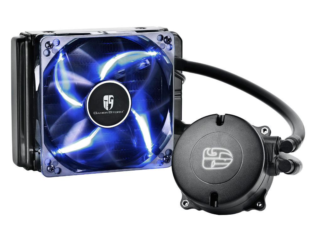 цена на Водяное охлаждение DeepCool Maelstrom 120T Blue (Intel LGA1150/1151/1155/1156/LGA1356/1366/LGA2011/2011-3/AMD AM2/AM2+/AM3/AM3+/FM1/FM2/FM2+)