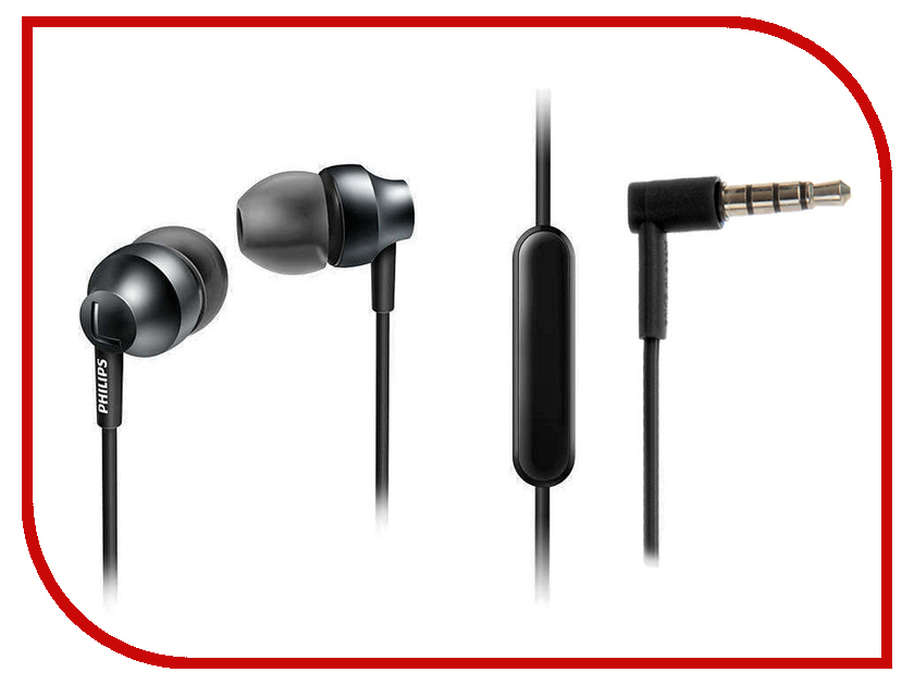 Гарнитура Philips SHE3855SG/00 Black-Grey audio technica ath ls50is 15119537 внутриканальные наушники red