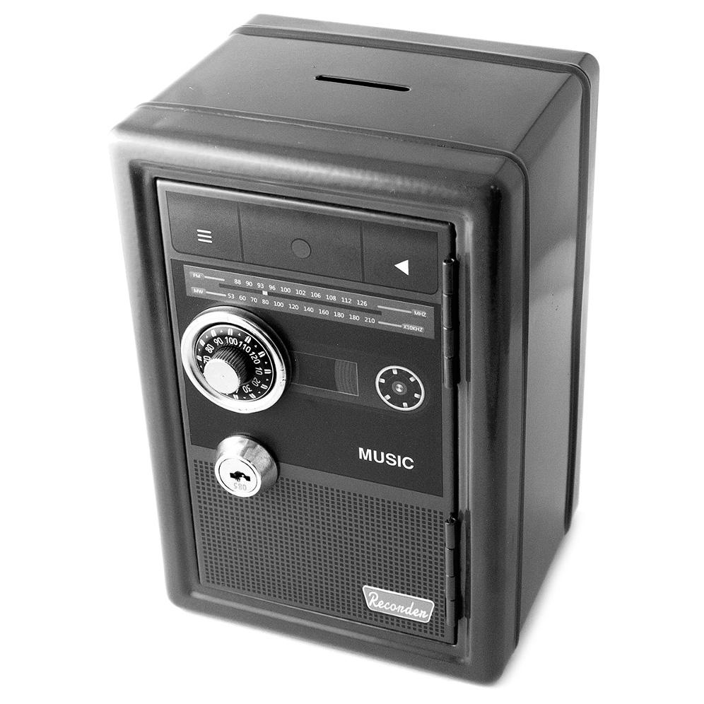 Копилка для денег Эврика Ретро Black 97447 часы эврика 3d арабские black 99680