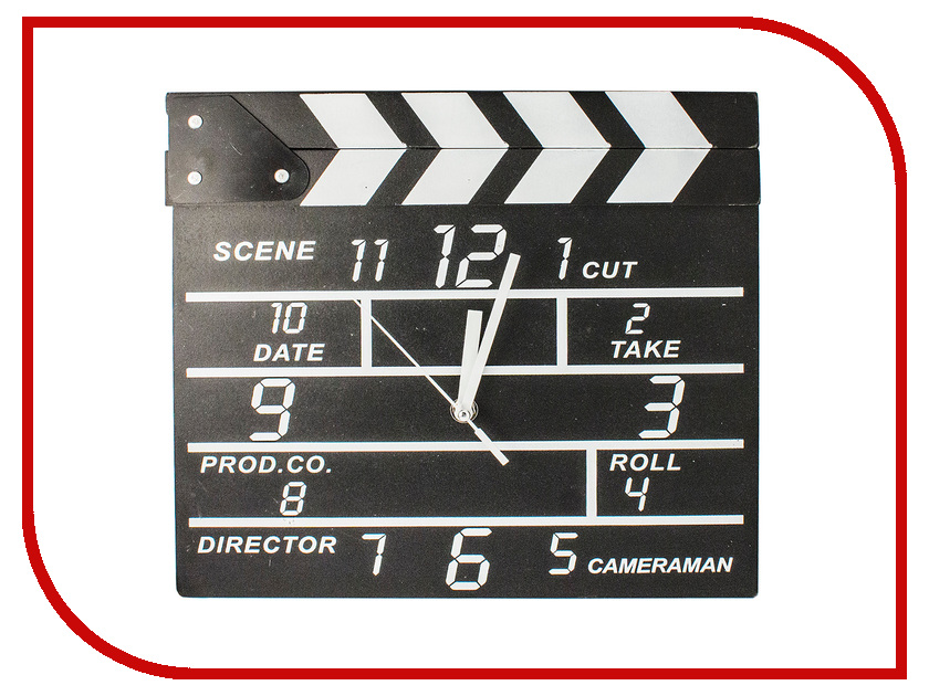 Часы Эврика Кинохлопушка 97469 часы эврика античасы классика белая стеклянные