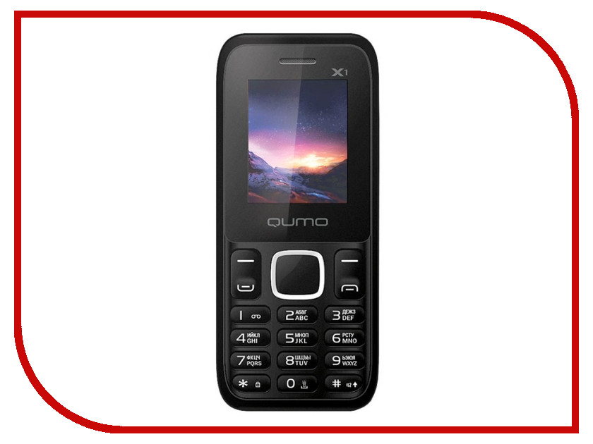 Сотовый телефон Qumo Push X1 Black