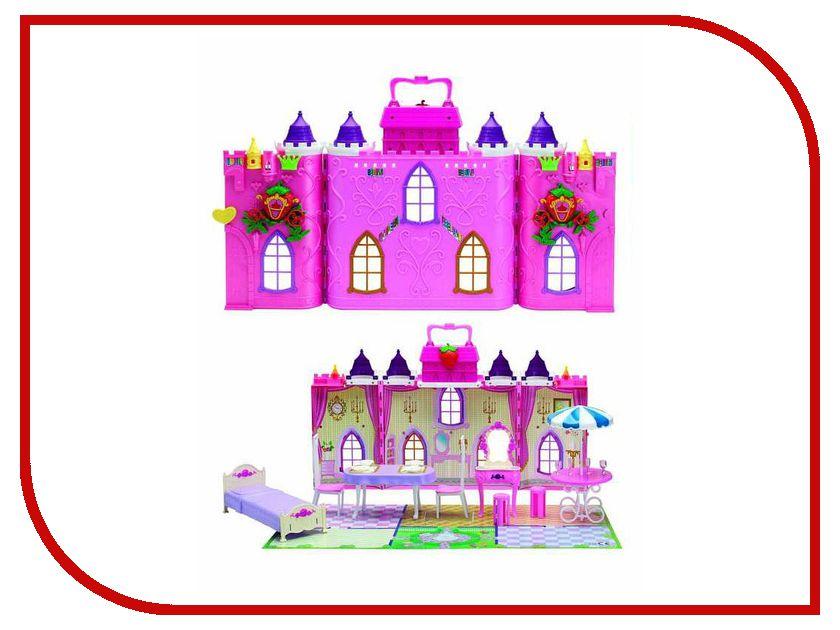 Игра 1Toy Красотка Замок для кукол Земляничка Т56584 кукольные домики 1toy дом для кукол с мебелью 2 секции 28 деталей 1toy красотка