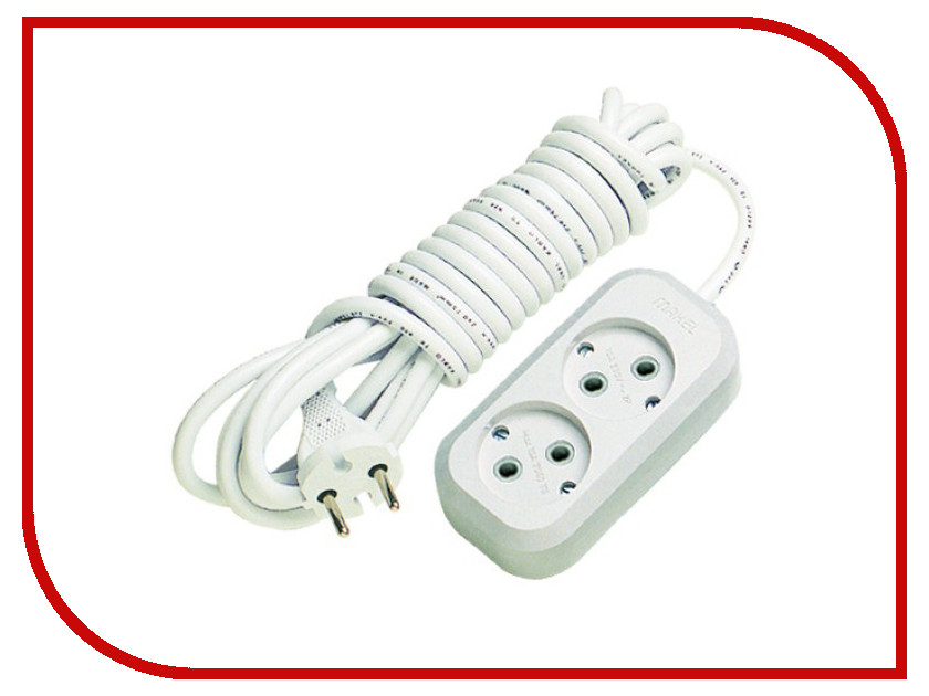 Удлинитель Makel 2 Sockets 3m MGP103 удлинитель rexant optima 3 sockets 7m white 11 2267