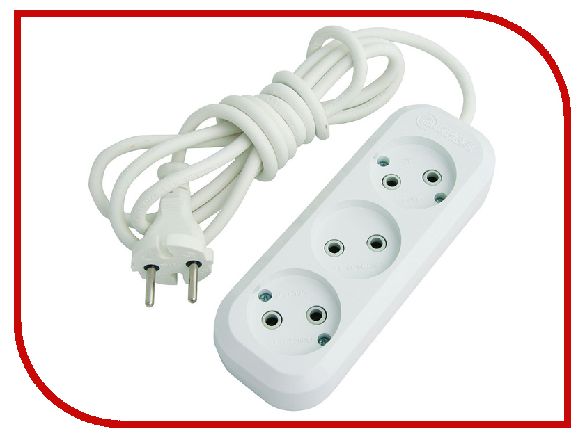 Удлинитель Makel 3 Sockets 10m MGP128 удлинитель rexant optima 3 sockets 7m white 11 2267