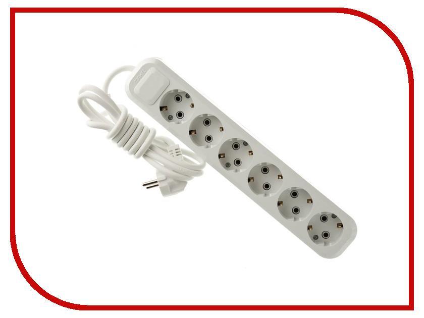 Сетевой фильтр Makel 6 Sockets 2m MGP182