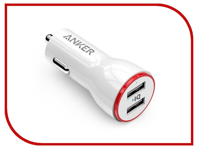 Зарядное устройство Anker PowerDrive 2xUSB 4.8A A2310022 White 21036<br>
