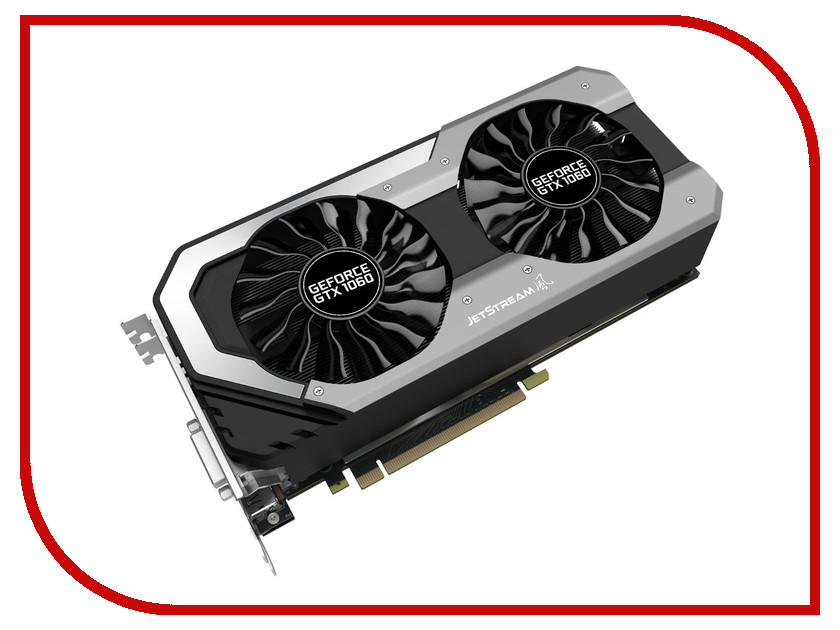 Видеокарта Palit GeForce GTX 1060 1620Mhz PCI-E 3.0 6144Mb 8000Mhz 192 bit HDMI NE51060S15J9-1060J computer pc vga cooler fans graphics card fan for palit gtx 770 video card cooling