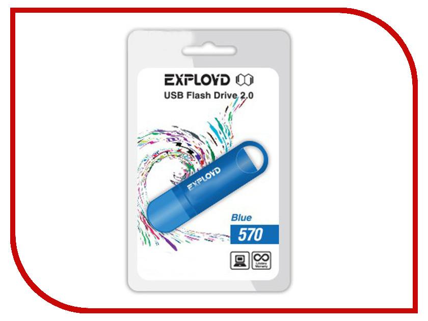 USB Flash Drive 4Gb - Exployd 570 Blue EX-4GB-570-Blue