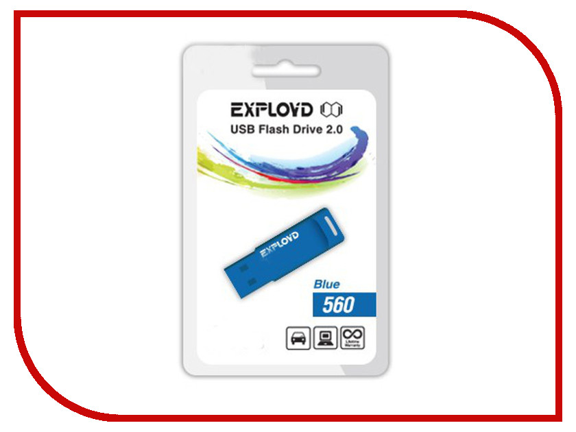 USB Flash Drive 4Gb - Exployd 560 Blue EX-4GB-560-Blue<br>