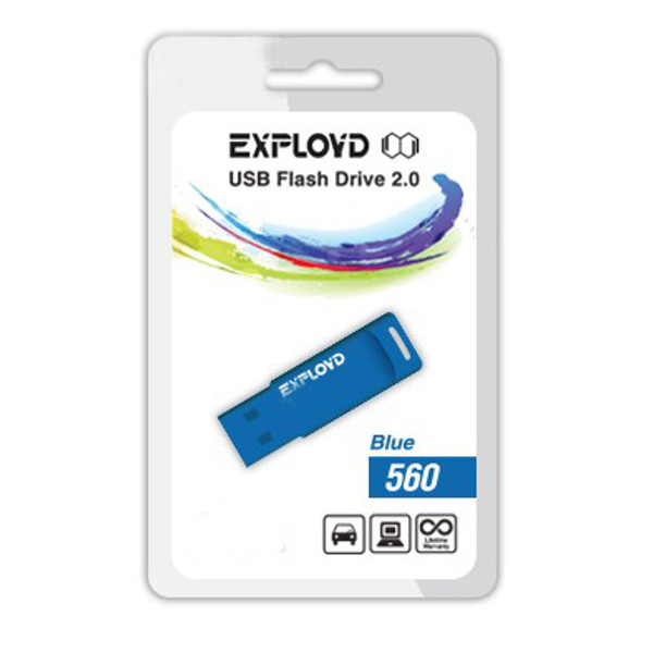 USB Flash Drive 4Gb - Exployd 560 Blue EX-4GB-560-Blue