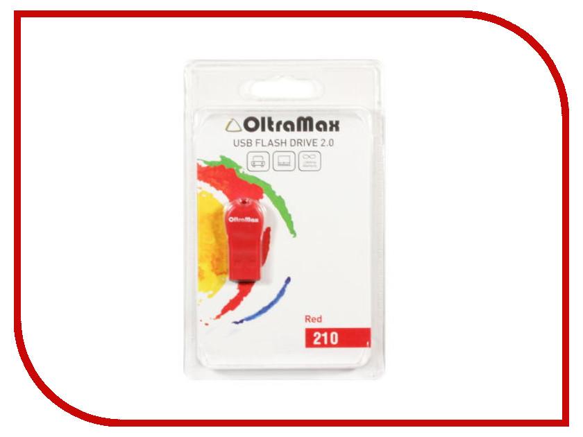 USB Flash Drive 4Gb - OltraMax 210 Red OM-4GB-210-Red