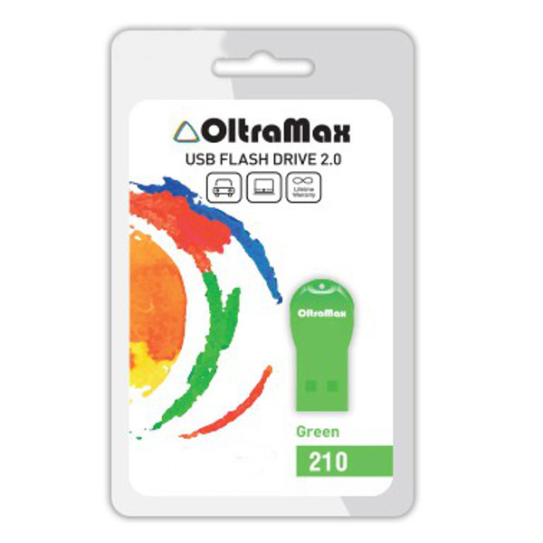 USB Flash Drive 4Gb - OltraMax 210 Green OM-4GB-210-Green