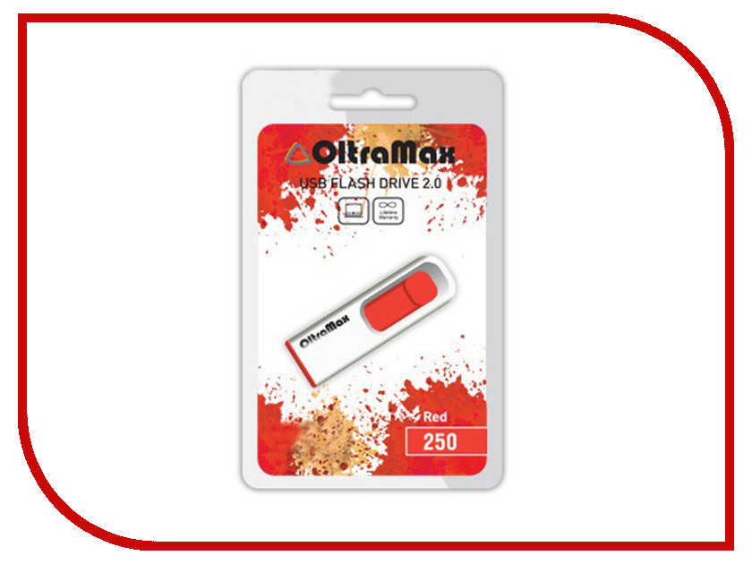 USB Flash Drive 64Gb - OltraMax 250 Red OM-64GB-250-Red<br>