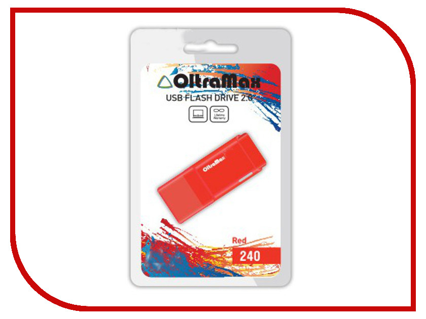 цена на USB Flash Drive 64Gb - OltraMax 240 Red OM-64GB-240-Red