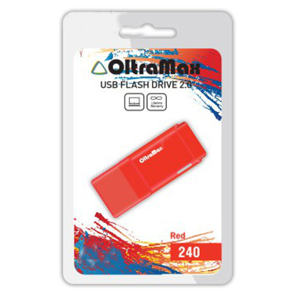 Фото - USB Flash Drive 64Gb - OltraMax 240 Red OM-64GB-240-Red red lace details sexy panties
