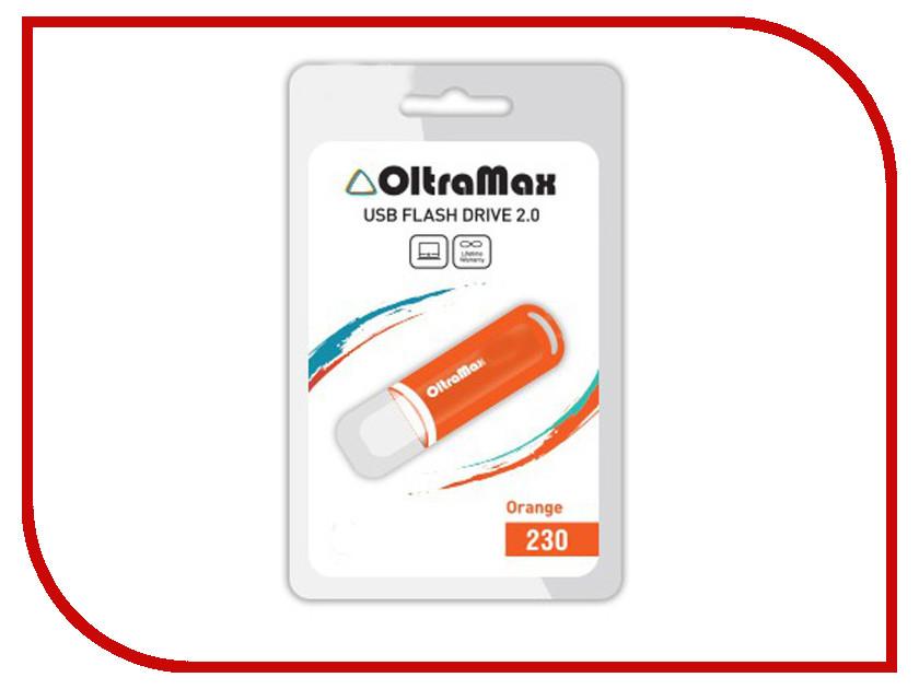 USB Flash Drive 64Gb - OltraMax 230 Orange OM-64GB-230-Orange<br>