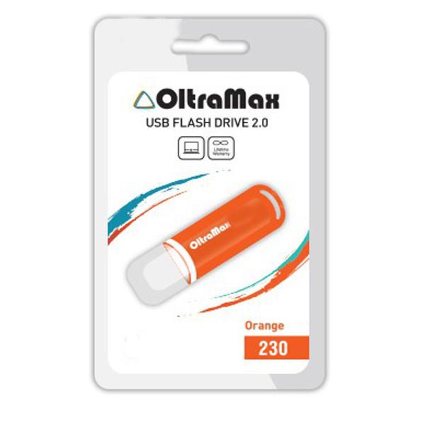 USB Flash Drive 64Gb - OltraMax 230 Orange OM-64GB-230-Orange